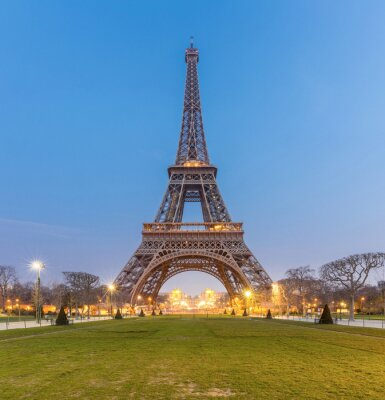 Canvastavlor Eiffel Tower Sunrise