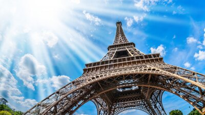 Canvastavlor Eiffeltornet - Vidbild