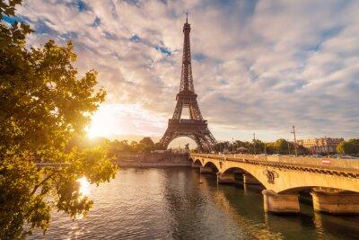 Canvastavlor Eiffelturm i Paris