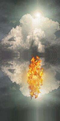 Canvastavlor Eld och vatten