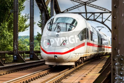 Canvastavlor Electric InterCity Express i Frankfurt, Tyskland i en sommardag