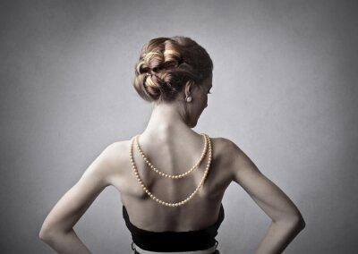 Canvastavlor elegant kvinna