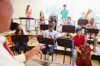 Canvastavlor Eleven spela musikinstrument I School Orchestra