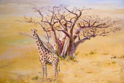 Canvastavlor En giraff, Kenya
