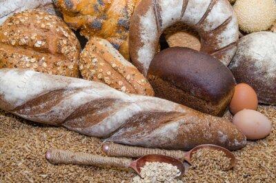 Canvastavlor En mängd olika bageriprodukter