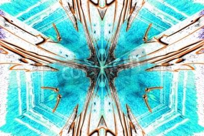 Canvastavlor En stjärna abstraktion symetric