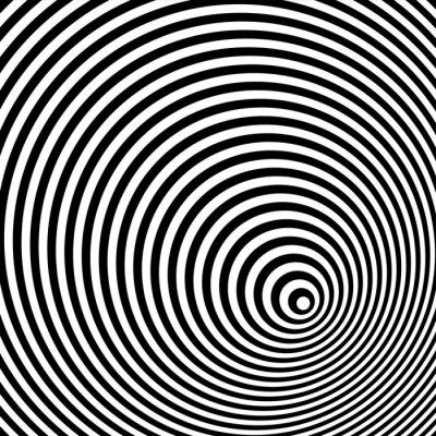 Canvastavlor En svartvit optisk illusion
