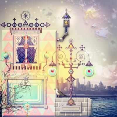 Canvastavlor Enchanted hus i haven