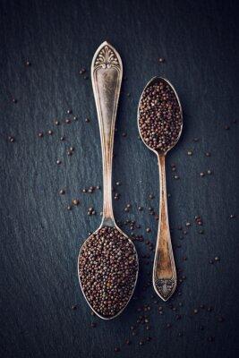 Canvastavlor Enkel stilleben med svarta senapsfrön