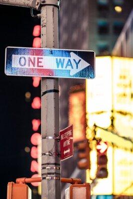 Canvastavlor Ett sätt New York vägmärke