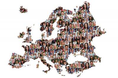 Canvastavlor Eurocard människor ungdomar grupp integration mångkultur