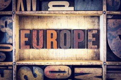 Canvastavlor Europa Concept boktryck Type