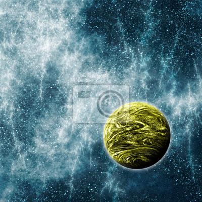 Canvastavlor Extrasolar planet i en skev Space Time Region