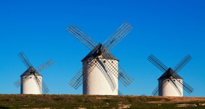 Canvastavlor Få av vindkraftverk