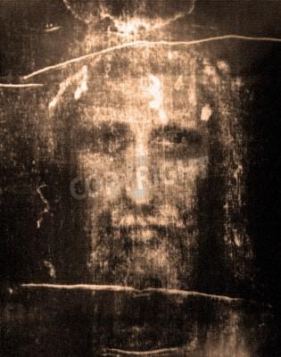 Canvastavlor Face of Jesus från Dölja av Turin