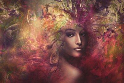 Canvastavlor fantasi kvinna komposit