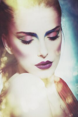 Canvastavlor fantasi skönhet kvinna