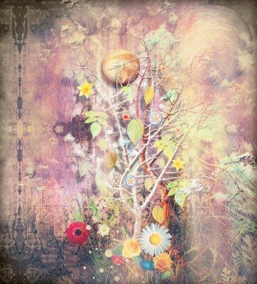 Canvastavlor Fantasilandskap med förhäxade träd