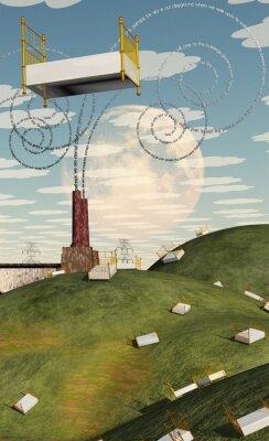 Canvastavlor Fantasy Landscape