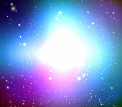 Canvastavlor färg galax