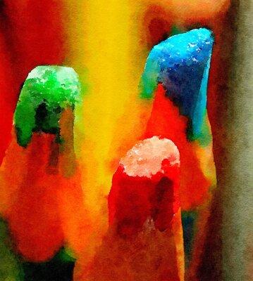 Canvastavlor Färgade pennor