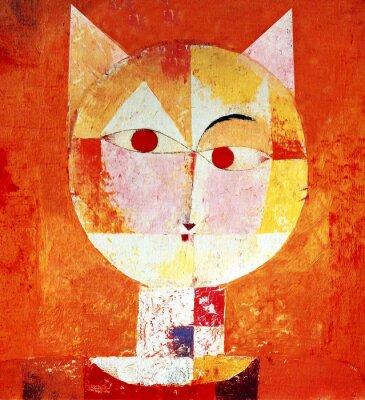 Canvastavlor Färgade Porträtt av en katt