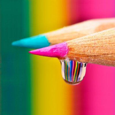 Canvastavlor Färger explosion på en droppe