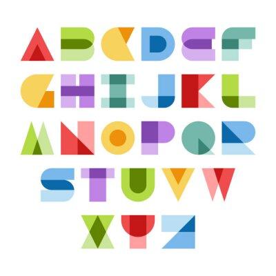 Canvastavlor färgrik font