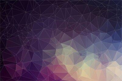 Canvastavlor Färgrik geometrisk bakgrund med trianglar