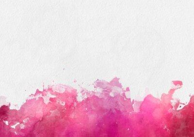 Canvastavlor Färgrik röd vattenfärgen målar mall