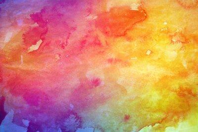 Canvastavlor Färgrik vattenfärg bakgrund för grafisk design
