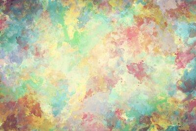 Canvastavlor Färgrik vattenfärg måla på duk. Super hög upplösning och kvalitet bakgrund