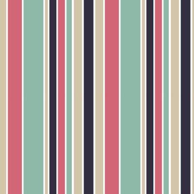 Canvastavlor färgrika vertikala ränder sömlösa vektor mönster bakgrund illustration