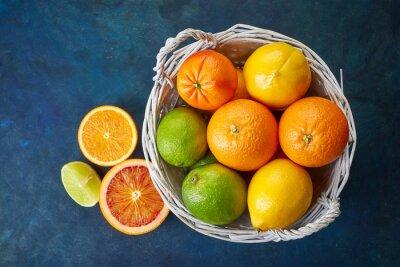 Canvastavlor Färska citrusfrukter