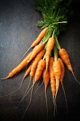 Canvastavlor färska morötter