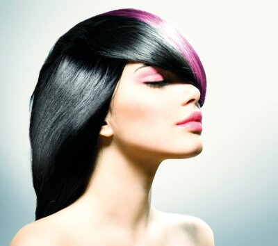 Canvastavlor Fashion Hair. Frisyr
