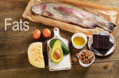 Canvastavlor Fettrik mat som är hälsosamma