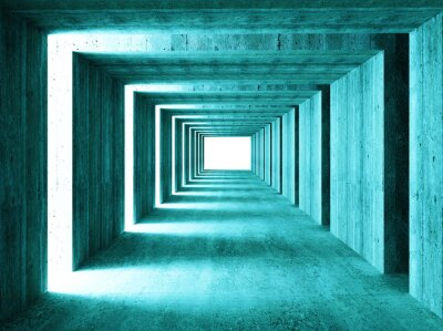 Canvastavlor fin bild 3d concretet tunnel abstrakt bakgrund