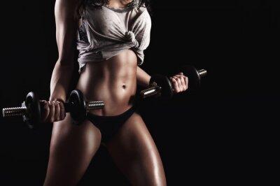 Canvastavlor Fitness kvinna i hård träning