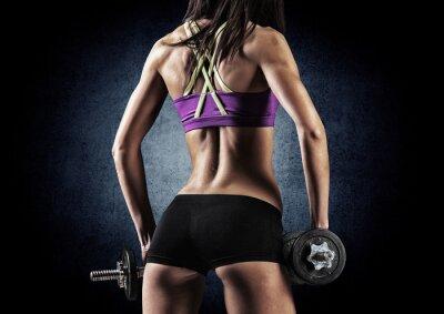 Canvastavlor Fitness sportig kvinna i utbildning
