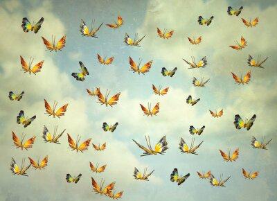Canvastavlor Fjärilar på himlen