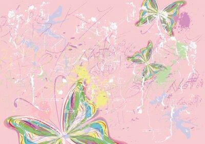 Canvastavlor fjärilsfärger