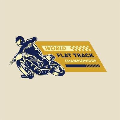 Canvastavlor flat track racer illustration