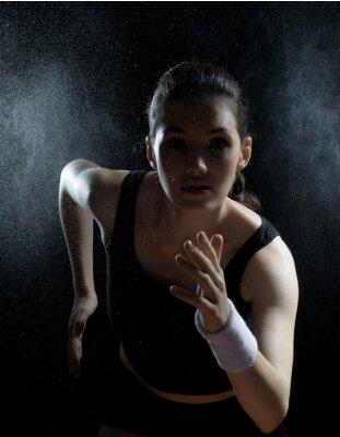 Canvastavlor flicka inom idrotten