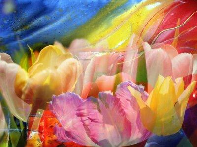 Canvastavlor Flower-flöde