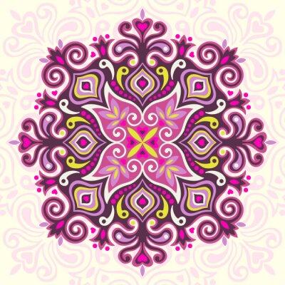 Canvastavlor Flower Mandala. Abstrakt element för design