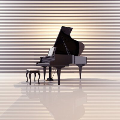 Canvastavlor Flügel, Musik, Piano, Konzert
