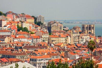 Canvastavlor Flygfoto över Lissabon, Portugal