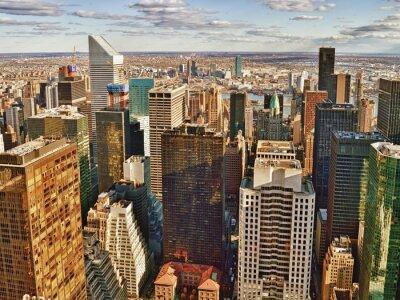 Canvastavlor Flygfoto över New York City.