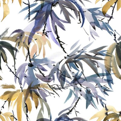Canvastavlor Foliate akvarellmönster